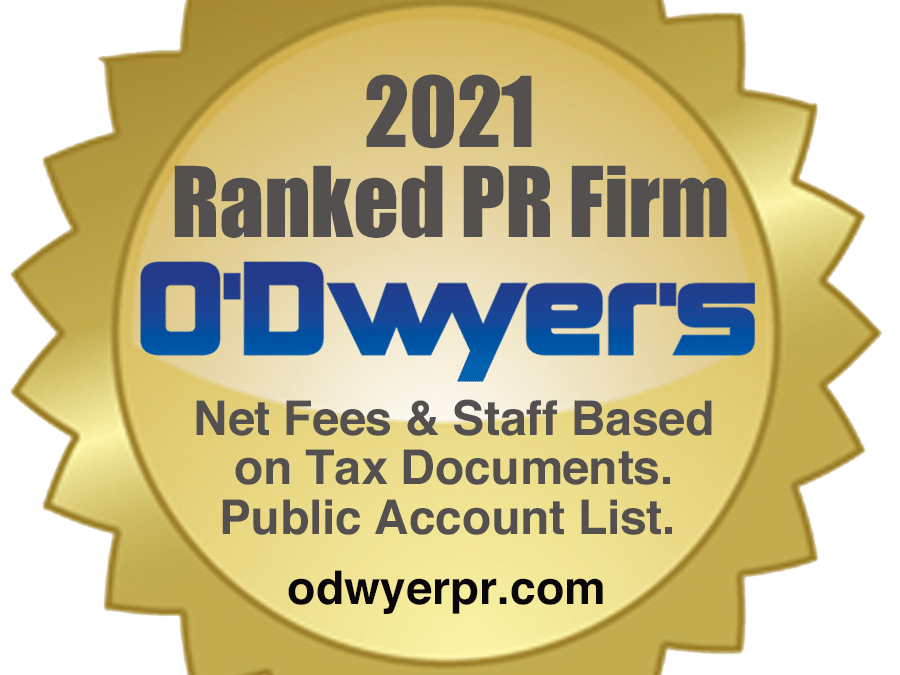 Touchdown ranked a top 20 technology PR agency by O'Dwyer's