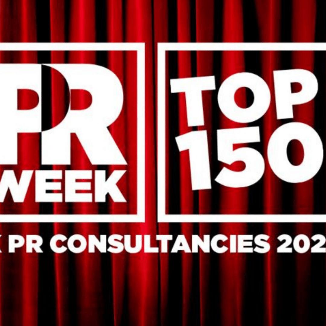 PRWeek Rankings: Touchdown Ranked #7 Tech PR Agency in the UK